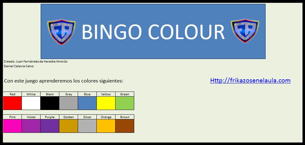 Bingo Colores