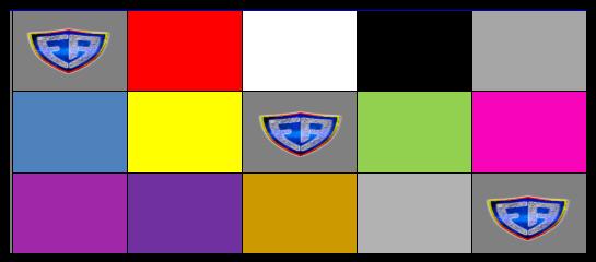 Cartón con colores
